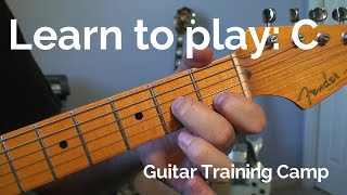 beginner guitar lessons: how to play a c chord