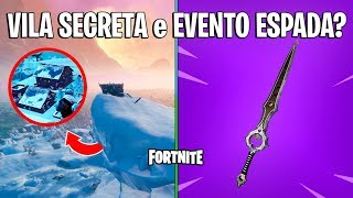 FORTNITE-SECRET VILLAGE on the ICEBERG and MYSTERIOUS SWORD?