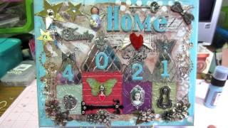 HOME Canvas using Artful Dwellings Die