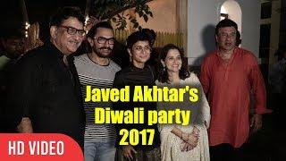 Aamir Khan Javed Akhtar And Shabana Azmi Diwali Party 2017