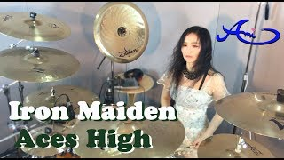 Iron Maiden - Aces High drum cover by Ami Kim (#20)