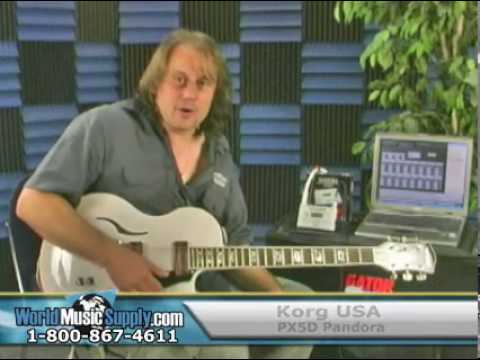 Korg Pandora PX5D Guitar Effects Processor Demo Part 2