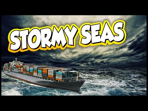 Ships 2017 ➤ Massive Container Ship On Stormy Seas [Ships 20