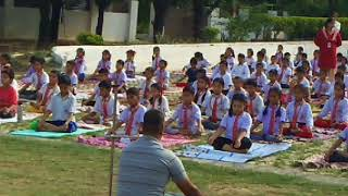 International Yoga Day in Galaxy Public School