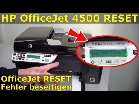 HP OfficeJet 4500 Reset - Factory - zurücksetzen - [gelöst]