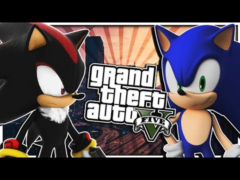 Sonic & Shadow Play Grand Theft Auto V!