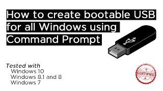 كيفية إنشاء للتمهيد USB لجميع النوافذ باستخدام CMD