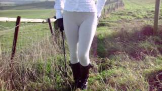 Goddess Gabrielle in her Skin Tight Jodhpurs and Riding Boots