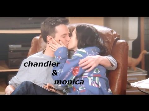chandler & monica | i think im in love