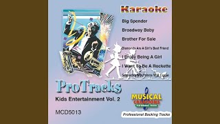 Big Spender (In the Style Of 'Sweet Charity') (Karaoke Version Instrumental Only)