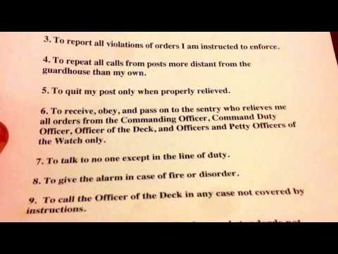 11 General Orders of A Sentry Navy Version W Mp3