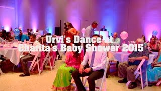 Urvi's Dance at Charita's Baby Shower 2015