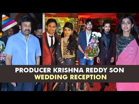 Tollywood Celebrities Grace Producer Krishna Reddy Son Wedding