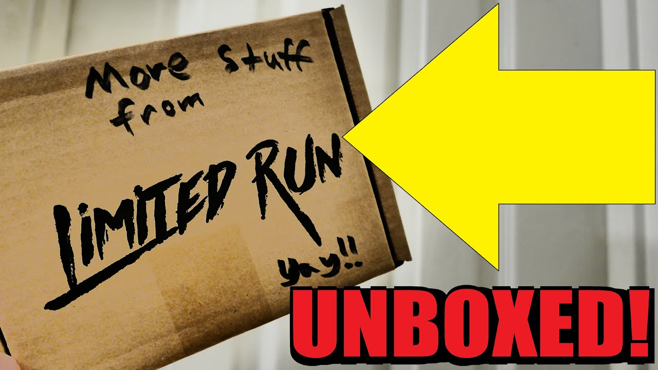 I got more things from Limited Run! Let's unbox them!