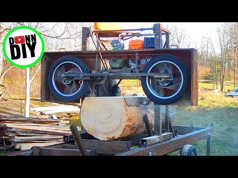 Maximum Cut Width On My Homemade Sawmill - Band Sawmill Build #28
