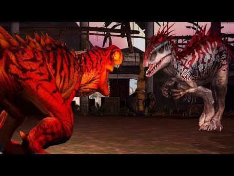 INDOMINUS REX Vs TYRANNOSAURUS REX  - Jurassic World The Game