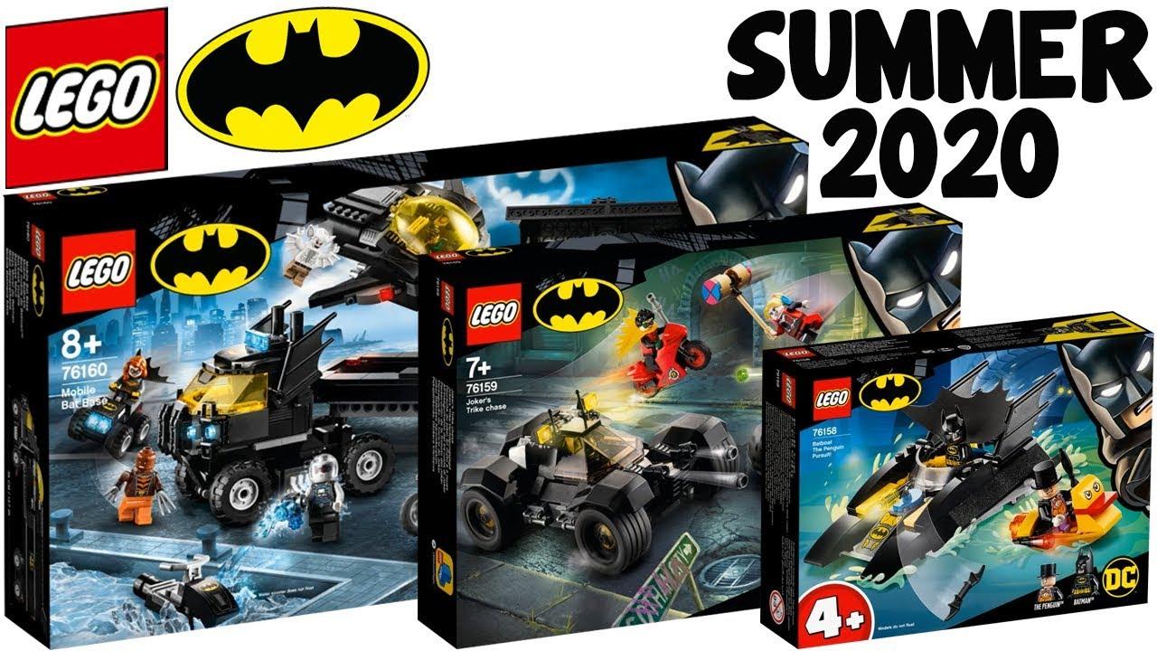 Every Lego Dc Batman 2020 Summer Sets Mobile Bat Base Joker S Trike Chase More Youtube