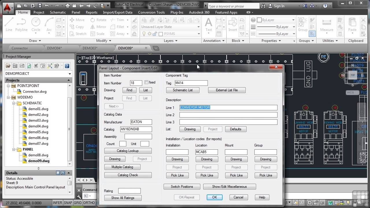 Autodesk Autocad Electrical 2014 Tutorial Typical Panel Drawing Power Control Circuit In Bibliocad Youtube