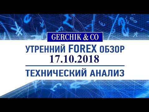 ❇ Технический анализ основных валют 17.10.2018 | Обзор Форекс с Gerchik & Co.