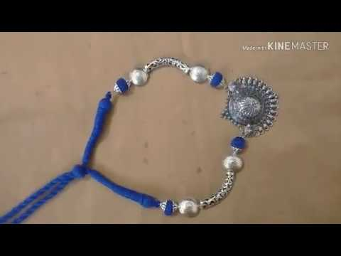 Oxidised necklace making|Oxidised jewellery making|Cotton beads jewellery|How to make