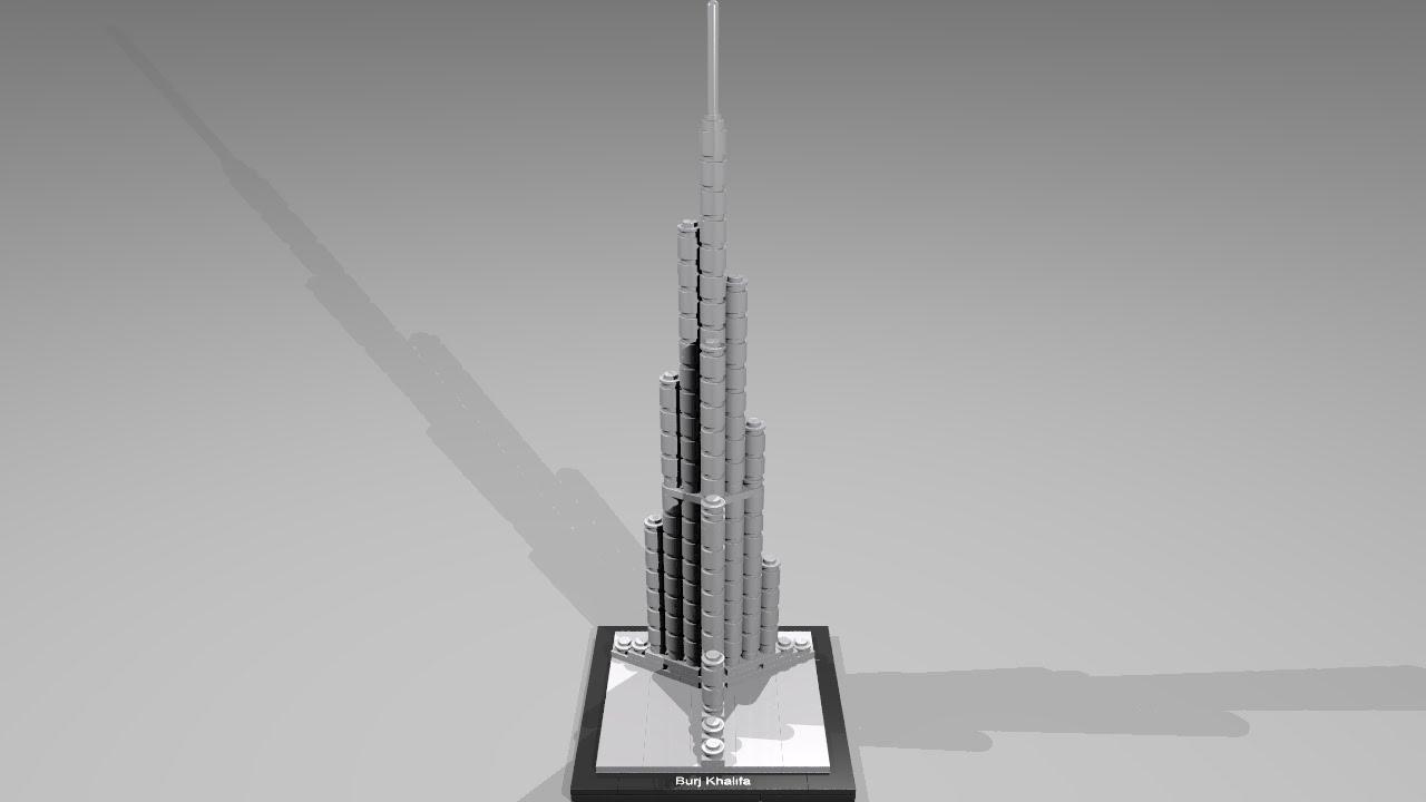 lego architecture burj khalifa instructions
