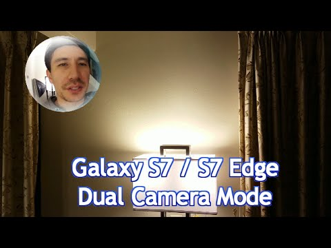 Galaxy S7 / Edge: How to Use Front & Back Facing Camera Same Time- Dual Camera  Mode Feature