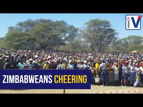 Part of the crowd attending Mugabe's rally in Lupane