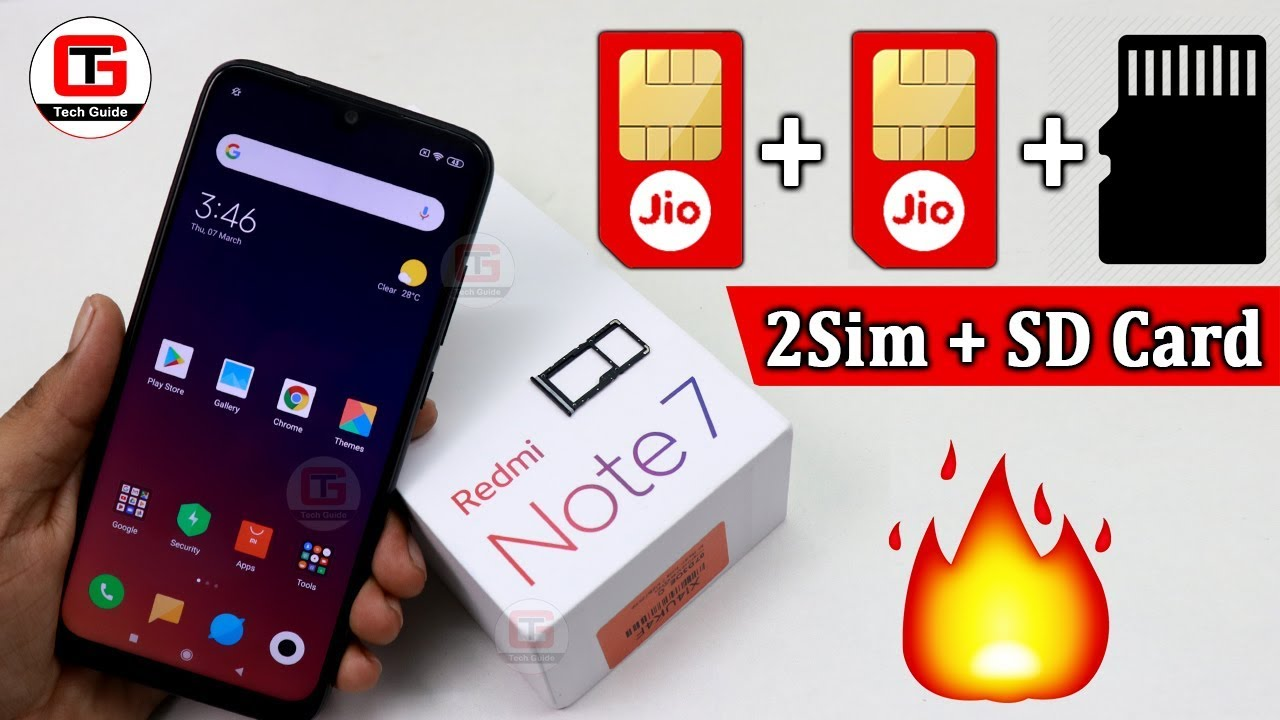 Redmi Note 7 Hybrid Sim Solution How To Use 2sim Sd Card In Pro