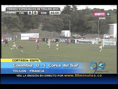 Mayo 26 de 2014. Colombia quedó eliminada del Torneo Esperanzas de Toulon