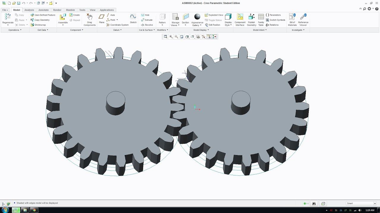 how to draw involute gears in creo parametric involute gear tutorial rh youtube com Creo Parametric 2.0 Tutorial Creo Parametric 20-Book