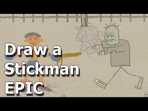 НА КЛАДБИЩЕ МНОГО ЗОМБИ игра СТИКМЕН Draw a Stickman EPIC