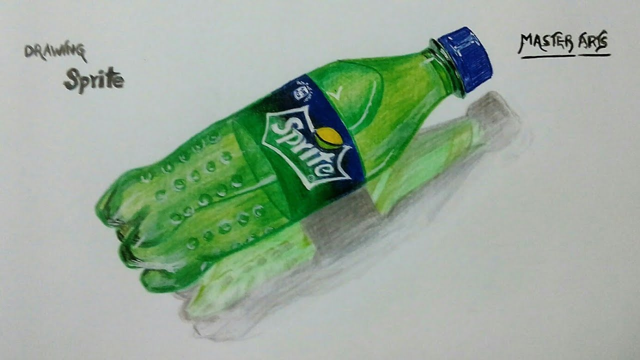 Drawing Sprite Bottle How To Draw Sprite Easy Drawing Youtube