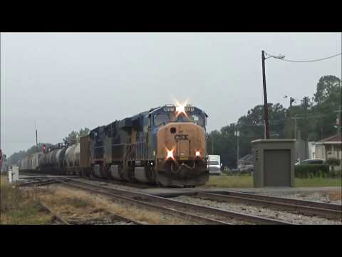 Busy CSX Action in Jesup, GA 9/3/17