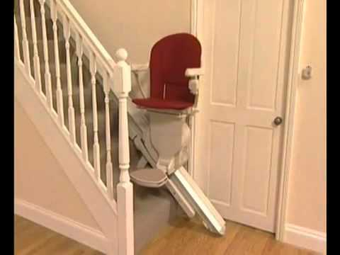 Stannah Stairlift With Hinged Rail mp4