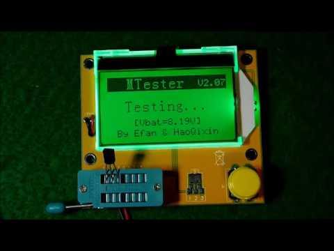 UEB LCR T4 ESR Meter Transistor Tester Diode Triode Capacitance SCR Inductance, Intelligent componen