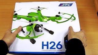 Квадрокоптер JJRC H26W обзор и пробный запуск!