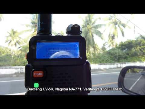 Baofeng UV-5R, Nagoya NA-771, Radio Veritas Legazpi