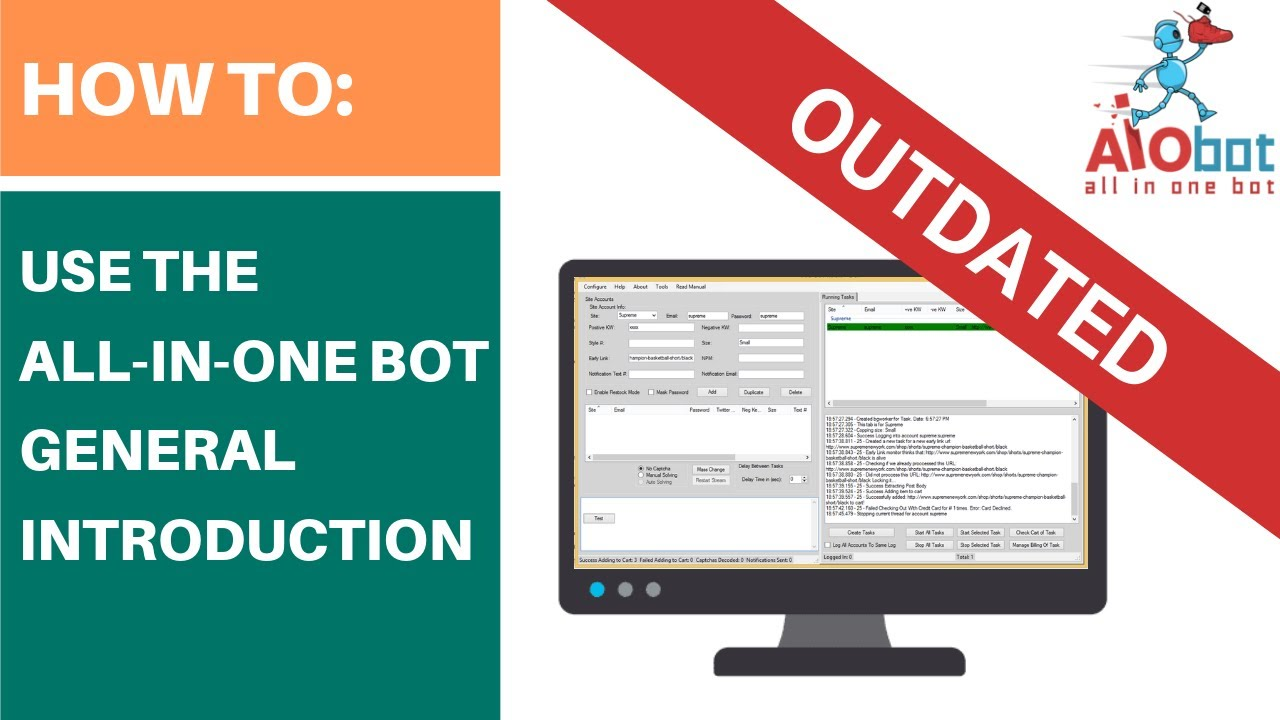 half off ab0e4 9a3d7 All In One Bot - General Introduction and Demo - YouTube