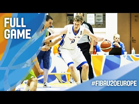 Czech Republic v Slovenia - Full Game - R16 - FIBA U20 European Championship 2016