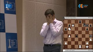 Свидлер в один ход потерял 30000$! 3 партия матча Свидлер- - Карякин 0:1