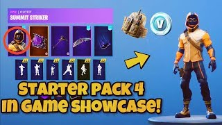 "*NEW* Fortnite STARTER PACK 4 ""SUMMIT STRIKER"" SKIN Showcase! Fortnite Battle Royale"