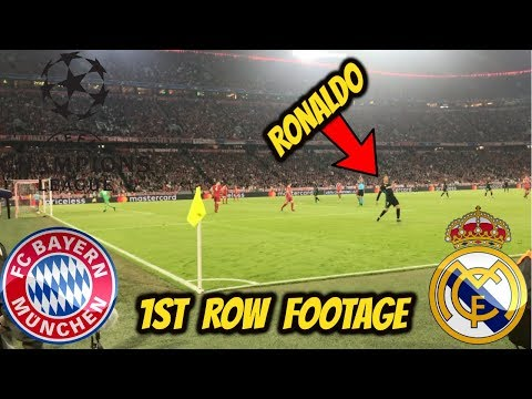 *1st row live footage* real madrid vs bayern munich championsleague sf 25/04/18