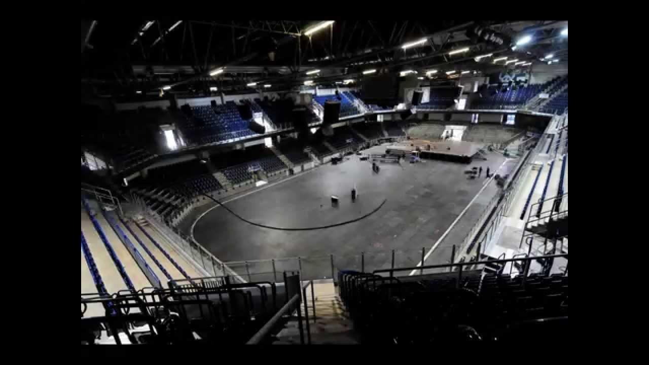 Umbau Von Der Eishockey Halle Zum Konzertsaal Youtube