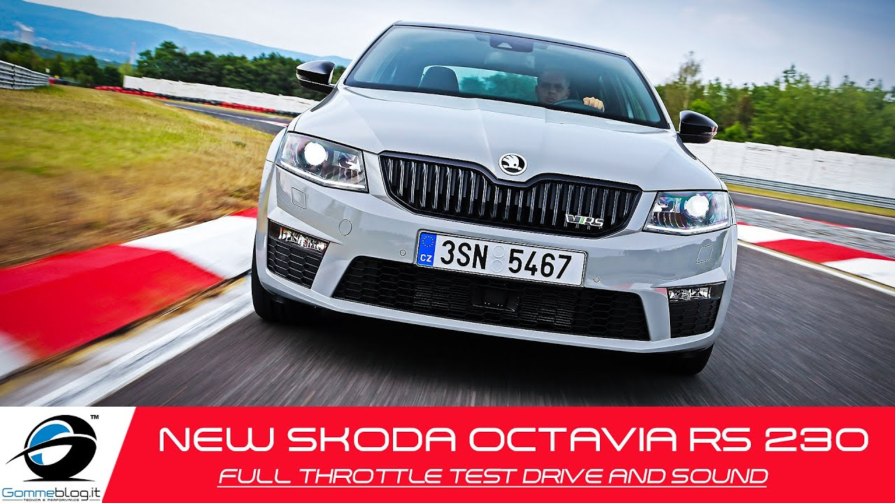 New Skoda Octavia Rs 230 Full Throttle Power Test Drive And Sound