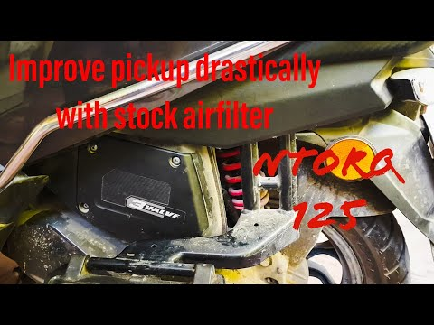 Improve pickup of tvs ntorq 125 with stock airfilter (No modifications)