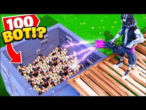 100 Bot VS i nuovi MURI INDISTRUTTIBILI di Fortnite?! Experiments on Fortnite