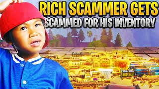 Insanely Rich Scammer Gets Scammed For Whole Inventory! In Fortnite Save The World