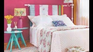 Ideias de cabeceiras para camas usando bastão de cortinas
