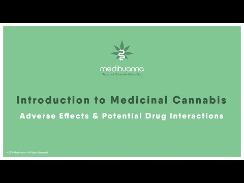 Introduction to Medical Cannabis (Module 5) Adverse Effects & Potential Drug Interactions