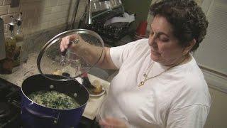Angelo's Mom Makes Spanakorizo And Lemon Chicken Breast